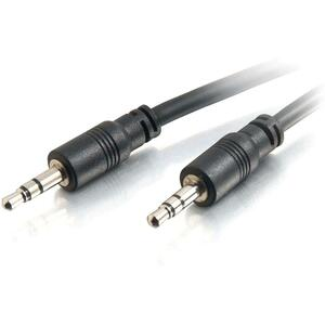 C2G 15ft CMG-Rated 3.5mm Stereo Audio Cable With Low Profile Connectors