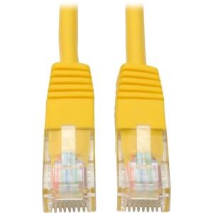 Tripp Lite 1ft Cat5e / Cat5 350MHz Molded Patch Cable RJ45 M/M Yellow 1'