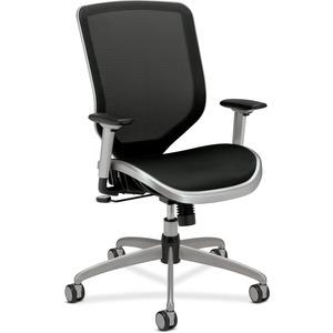 HON Boda Mesh High-Back Task Chair - Black Mesh Seat - High Back - Black - 1 Each