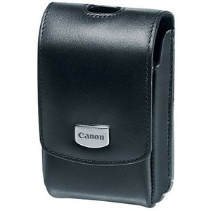 Canon Deluxe PSC-3200 Carrying Case Camera - Black - Leather - Waist Strap