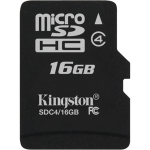 16GB microSDHC Class 4 Flash Card Single Pack w/o Adapter