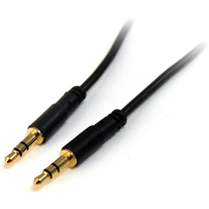 StarTech.com 6 ft Slim 3.5mm Stereo Audio Cable   M/M