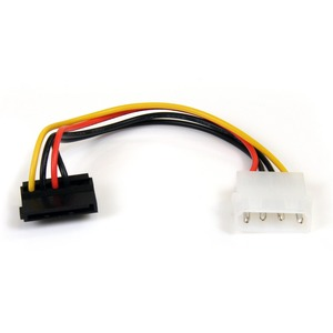 StarTech.com 6in 4 Pin Molex to Right Angle SATA Power Cable Adapter - 6