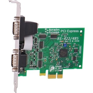 Brainboxes 2 x RS422/485 PCI Express Serial Port Card - Plug-in Card - PCI Express x16 - P