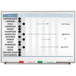 Quartet Matrix 15-employee In/Out Board - 16