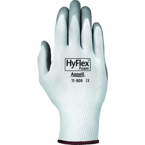 HyFlex Health Hyflex Gloves - X-Large Size - Nitrile, Nylon - Gray, White - Abrasion Resistant - For Healthcare Working - 2 / Pair