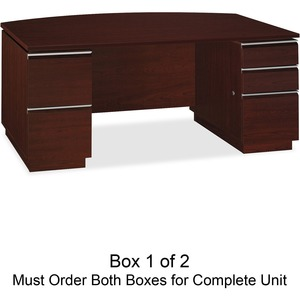 Get 43.4% OFF on bbf Milano 2 Series Bow Front Pedestal Desk Box 1 of 2**Free Shipping**