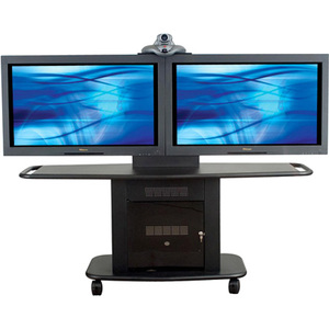 Avteq GMP-200L-TT2 Dual Display Stand - Up to 55inScreen Support - 350 lb Load Capacity -
