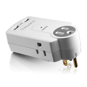CHARGING STATION with Dual surge protected USB Chargers and 3 surge protected AC