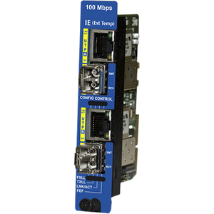 DUAL PORT EXTENDED TEMPERATURE (IE) 100 MBPS ETHERNET SNMP-MANAGEABLE MEDIA CO