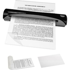 Ambir Document Sleeve Kit - Clear - 10