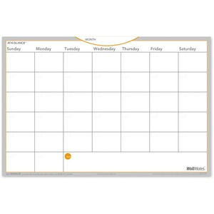 At-A-Glance WallMates Self-Adhesive Dry Erase Monthly Plan Surface - Monthly, Weekly - 12