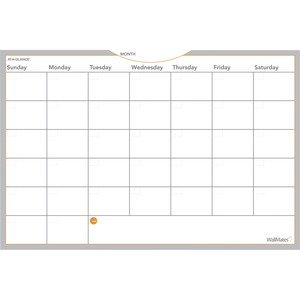 At-A-Glance WallMates Self-Adhesive Dry Erase Monthly Plan Surface - Monthly, Weekly - 24