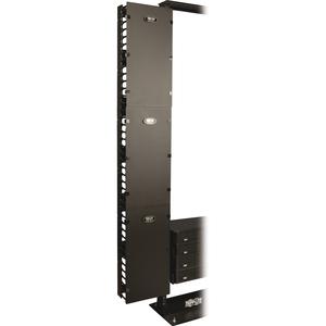 tripp lite srcablevrt3 6ft vertical cable manager for open frame rack 3in wide