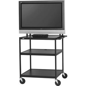 Bretford Basics FP42UL-E5BK Flat Panel Cart - 26into 42inScreen Support - 75 lb Load Cap