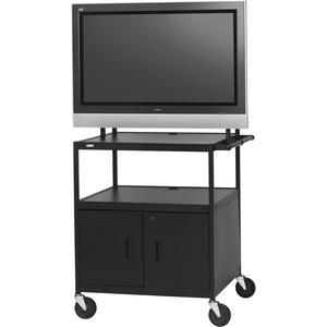 Bretford Basics FP42ULC-E5BK Flat Panel Cabinet Cart - 26into 42inScreen Support - 75 lb