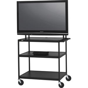 Bretford Basics FP60UL-E5BK Flat Panel Cart - 37into 52inScreen Support - 100 lb Load Ca