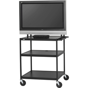 Bretford Basics FP42UL-P5BK Flat Panel Cart - 26into 42inScreen Support - 75 lb Load Cap