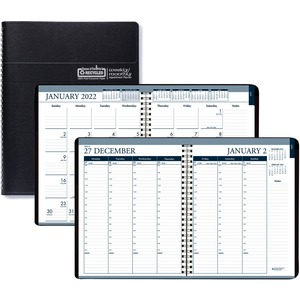 House of Doolittle Tabbed Wirebound Weekly/Monthly Planner - Julian Dates - Weekly, Monthly, Daily - 1 Year - January 2022 till December 2022 - 8:00 AM to 8:30 PM - Half-hourly - 1 Week, 1 Month Double Page Layout - 8 1/2