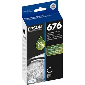 Epson T676XL120-S DURABrite Ultra XL Black Ink Cartridge W/SENSOR F/WORKFORCE Pro