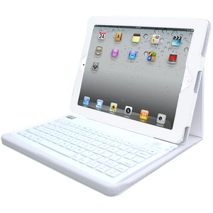 Compagno 2 (White) - Bluetooth 3.0 Keyboard with Carrying Case for iPad