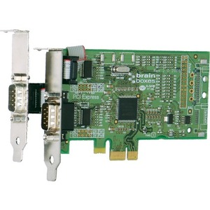 Brainboxes 2 Port RS232 Low Profile PCI Express Serial Card - Low-profile Plug-in Card - P