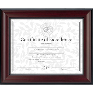 DAX Rosewood Document Frame - 8.50