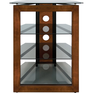 AT306 - No Tools Assembly Audio/Video Tower with Solid Wood Front Frame