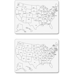 Creativity Street Large USA Map Whiteboard - 23.6