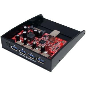 StarTech.com USB 3.0 Front Panel 4 Port Hub   3.5 5.25in Bay