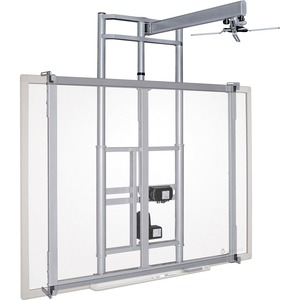 MooreCo iTeach Wall Mount for Whiteboard-Cart-Projector - Platinum - Steel - Platinum