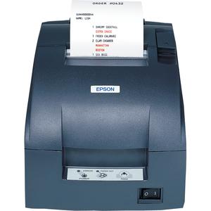 Epson TM-U220B Dot Matrix Receipt Printer 9 Pin Serial (S09) Epson Dark Gray Autocutter Power