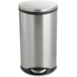 Safco Ellipse Hands Free Step-On Receptacle - 7.50 gal Capacity - 26.5