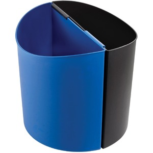 Safco Desk-Side Recycling Receptacle - 14 gal Capacity - Half-round - 16.5