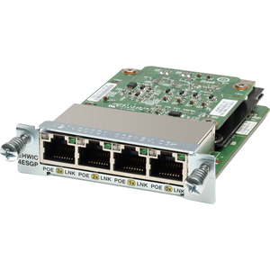 Cisco 4-Port Gigabit Ethernet Enhanced High-Speed WAN Interface Card EHWIC-4ESG=