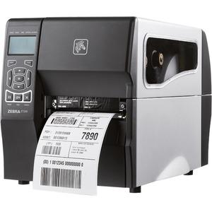 Zebra ZT230  4IN 300DPI Direct Thermal Printer Tear Power Cord With US Plug Serial USB Internal