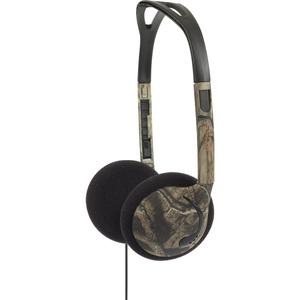 KOSS CORPORATION KMO15G MOSSY OAK ON-EAR HEADPHONE 3.5MM 4FT GREEN W/VC