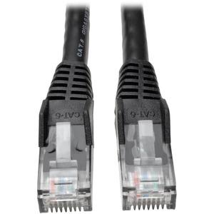 Tripp Lite 100ft Cat6 Gigabit Snagless Molded Patch Cable RJ45 M/M Black 100'