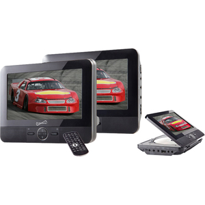 7IN DUAL PORTABLE DVD PLAYER PLAY YOUR MOVIESMUSIC AND PHOTOS IN YOUR CAR BUILT