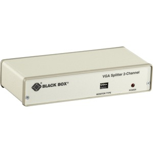 Black Box VGA 2-Channel Video Splitter-115-VAC - VGA-XGA - 1 x 22 x VGA Out