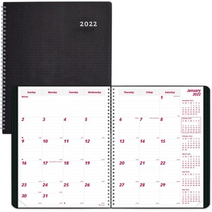 Brownline DuraFlex 14-Month Monthly Planner - Julian Dates - Monthly - 1.2 Year - December 2021 till January 2023 - 1 Month Single Page Layout - 11