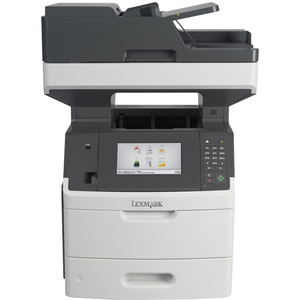 Lexmark MX710DHE Laser Multifunction Printer | Monochrome | Plain Paper Print | Desktop