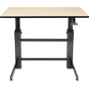 Ergotron WorkFit-D, Sit-Stand Desk (Birch Surface)