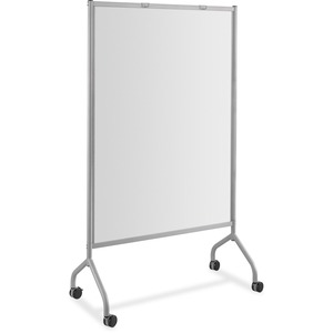 Safco Impromptu Magnetic Whiteboard Screens - Gray Surface - Gray Steel Frame - Rectangle - Assembly Required - 1 Each