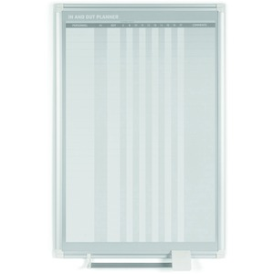 MasterVision Magnetic In/Out Vertical Planner Board - 24