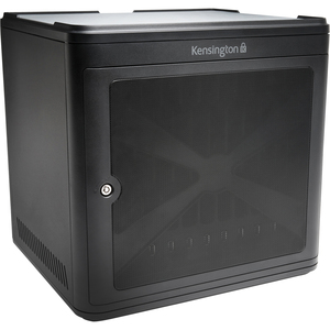 Kensington Charge and Sync Cabinet 10 iPad Capacity Stack Up to 3 Cabinets Built-in Cooling Fan