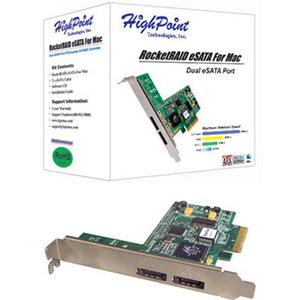 HighPoint RocketRAID eSATA for MAC RAID - PCI-Express x4 (PCI-e x4) (0/1/5/JBOD)