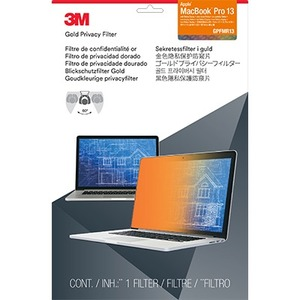 3M - SUPPLIES GPFMR13 PRIVACY FLTR F/ MACBOOK PRO13IN W/ RETINA DISPLAY GOLD