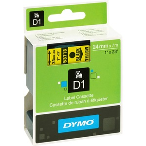 Dymo Black on Yellow D1 Label Tape