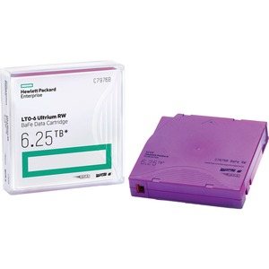 HPE LTO Ultrium-6 Data Cartridge - LTO-6 - Rewritable - 2.50 TB (Native) / 6.25 TB (Compre
